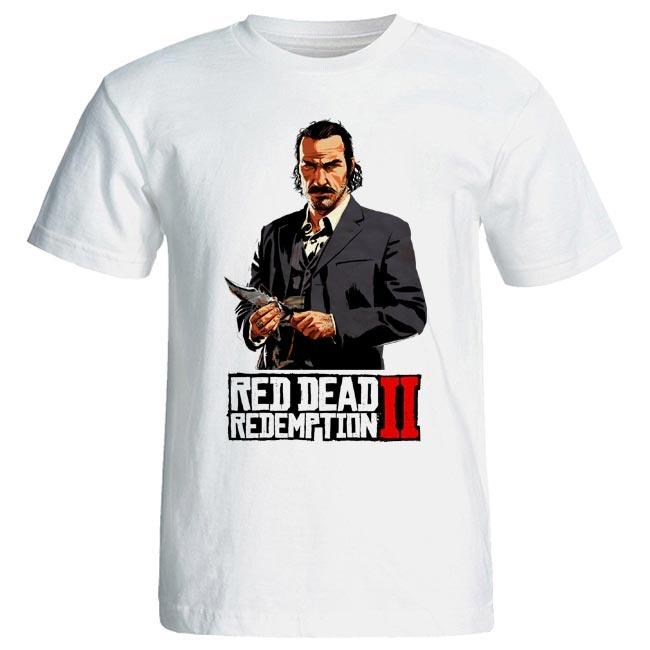 تصویر تی شرت آستین کوتاه زنانه طرح Red Dead Redemption 2 کد 2020