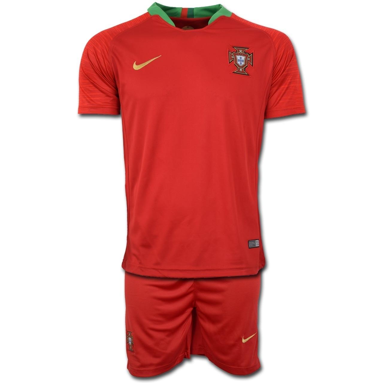 تصویر پیراهن و شورت تمرینی تیم ملی پرتغال طرح اول جام جهانی 2018