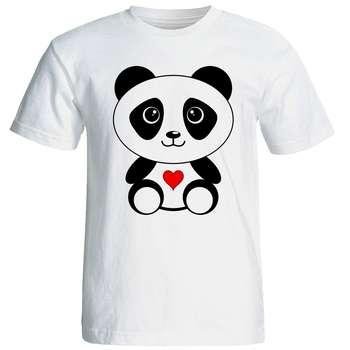 تی شرت آستین کوتاه زنانه شین دیزاین طرح پاندا کد 4517