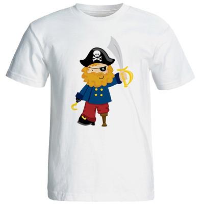 تی شرت آستین کوتاه مردانه شین دیزاین طرح دزد دریایی کد 4299