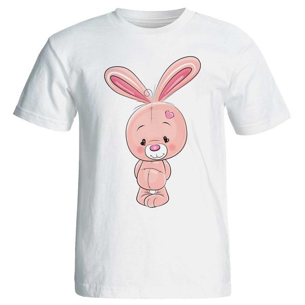 تی شرت زنانه پارس طرح کارتونی خرگوش کد 3708