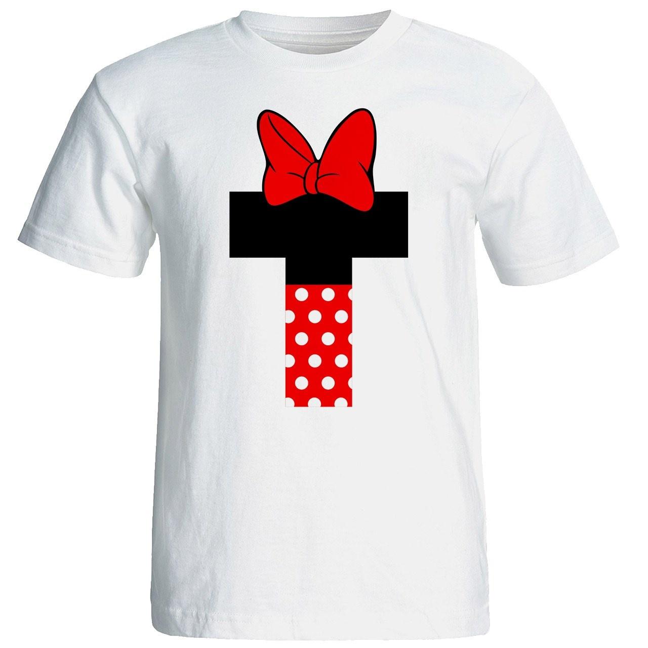 تی شرت آستین کوتاه زنانه شین دیزاین طرح میکی موس T کد 4534