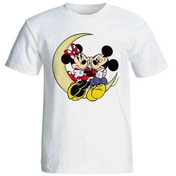 تی شرت آستین کوتاه زنانه شین دیزاین طرح میکی موس عاشق کد 4540