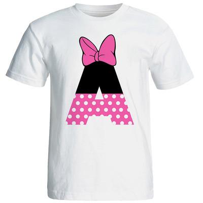 تی شرت آستین کوتاه زنانه شین دیزاین طرح میکی موس A کد 4537
