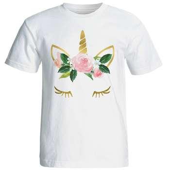 تی شرت زنانه طرح یونیکورن کد 4523