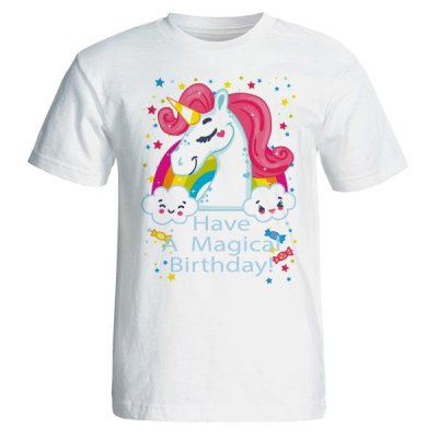 تیشرت زنانه طرح اسب تک شاخ unicorn کد 3742
