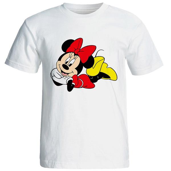 تی شرت آستین کوتاه زنانه شین دیزاین طرح میکی موس کد 4541