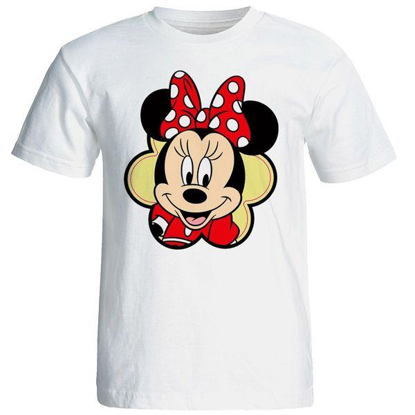 تی شرت آستین کوتاه زنانه شین دیزاین طرح میکی موس کد 4543