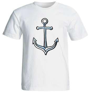 تی شرت آستین کوتاه مردانه شین دیزاین طرح لنگر کد 4505
