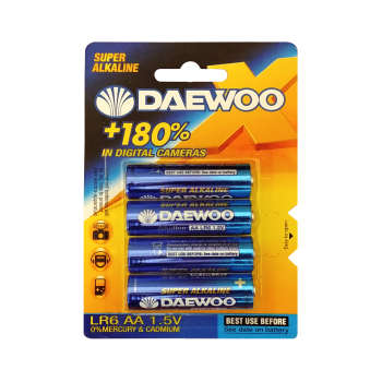 باتری قلمی دوو مدل  LR6 بسته 4 عددی