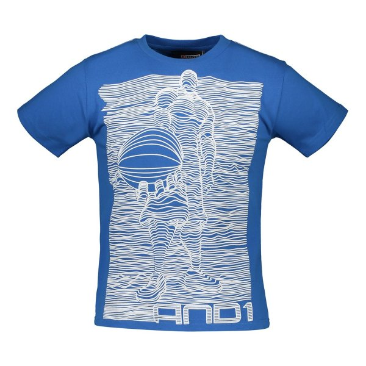 تیشرت ورزشی پسرانه AND1 مدلDAH6L117B-M-BLUE
