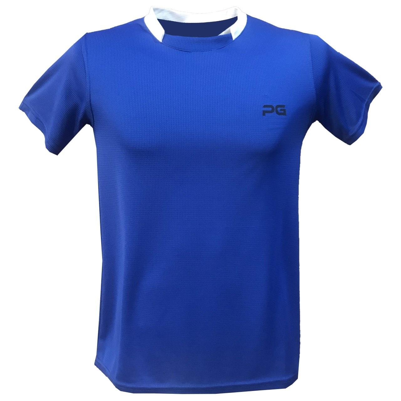 تصویر تیشرت آستین کوتاه مردانه پرگان مدل Dark Blue 1-8