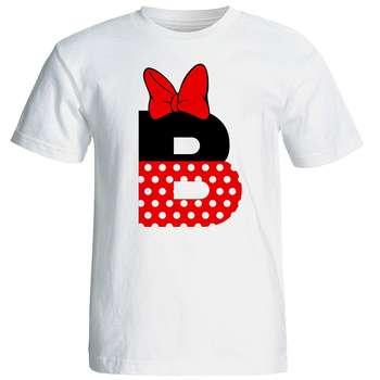 تی شرت آستین کوتاه زنانه شین دیزاین طرح میکی موس B کد 4530