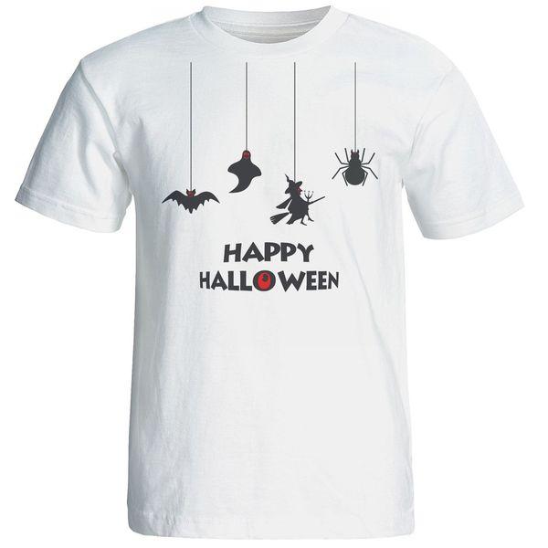 تیشرت آستین کوتاه بلک اند وایت طرح هالووین کد 5775