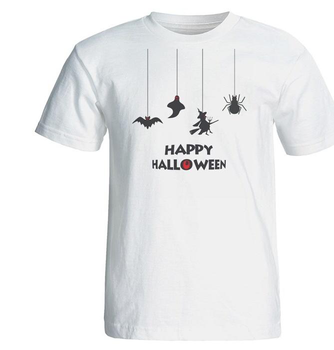 تیشرت آستین کوتاه بلک اند وایت طرح هالووین کد 5775 main 1 2