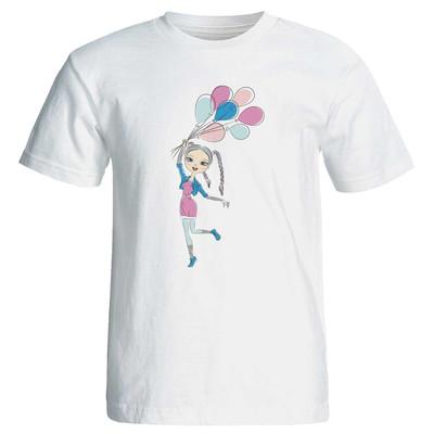 تی  شرت زنانه پارس طرح کارتونی کد 3727