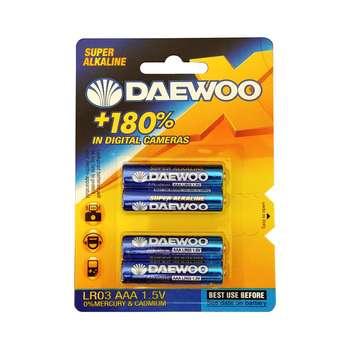 باتری نیم قلمی دوو مدل  LR03 بسته 4 عددی