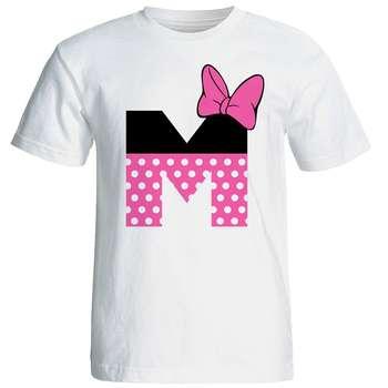 تی شرت آستین کوتاه زنانه شین دیزاین طرح میکی موس ام کد 4538