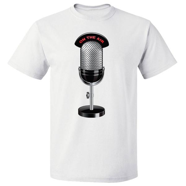تی شرت آستین کوتاه مارس طرح میکروفن کد 3887