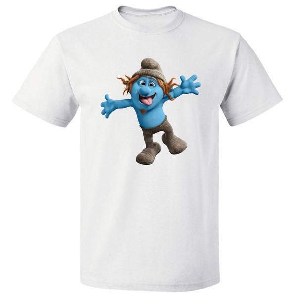 تی شرت آستین کوتاه مارس طرح اسمورف کد 3893