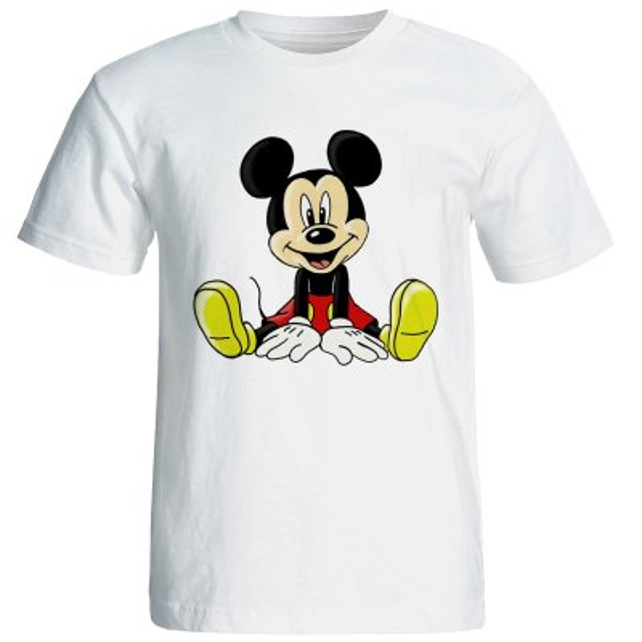 تصویر تی شرت آستین کوتاه مردانه شین دیزاین طرح میکی موس کد 4542