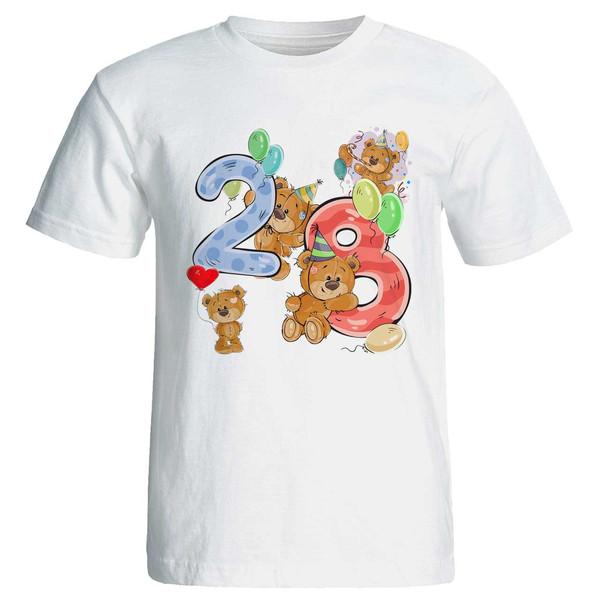 تی شرت آستین کوتاه مارس طرح تولد بیست و هشت سالگی کد 3528