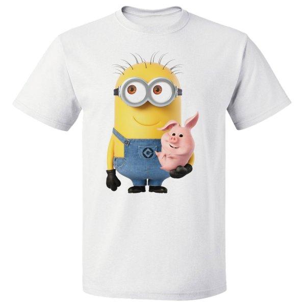 تی شرت آستین کوتاه مارس طرح مینیون کد 3899