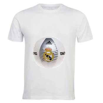 تی شرت آستین کوتاه مردانه زیزیپ طرح رئال مادرید کد 1342T