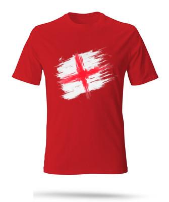 تصویر تی شرت مردانه طرح انگلیس رنگ قرمز