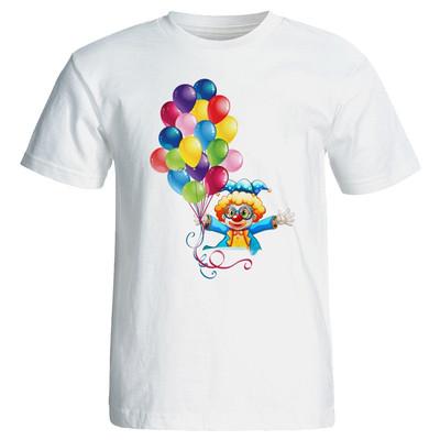 تی شرت زنانه طرح دلقک تولد کد 7058