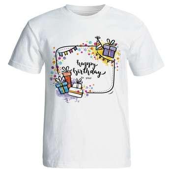 تی شرت زنانه طرح کادو تولد کد 7059