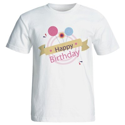 تی شرت زنانه طرح کیک تولد کد 7063