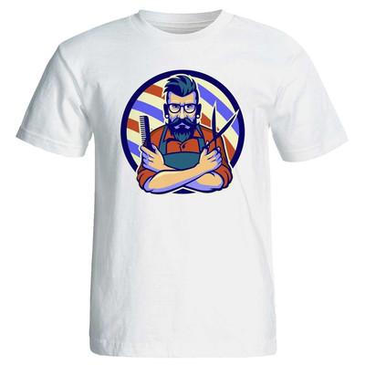 تصویر تی شرت مردانه پارس طرح آرایشگر کد 3807