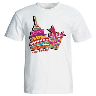 Photo of تی شرت زنانه طرح کیک تولد کد 7060
