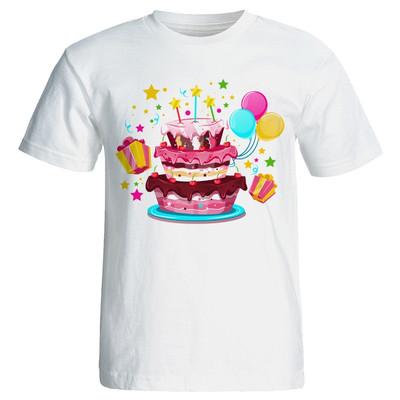 تی شرت زنانه طرح کیک تولد کد 7067