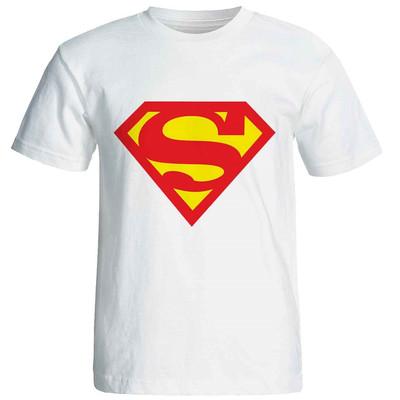 تصویر تی شرت آستین کوتاه زنانه شین دیزاین طرح سوپر من کد 4141