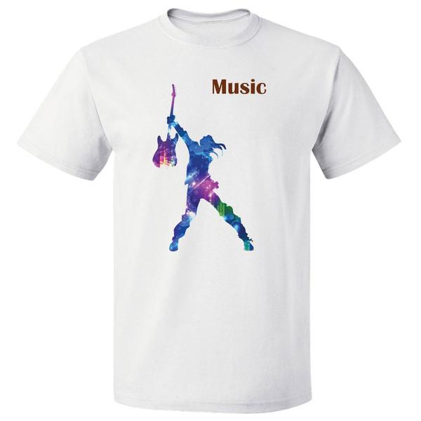 تی شرت آستین کوتاه مارس طرح موزیک کد 3879