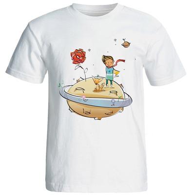 Photo of تی شرت آستین کوتاه زنانه شین دیزاین طرح شازده کوچولو کد 4266