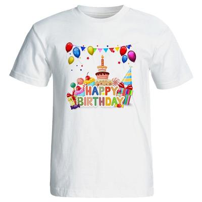 تصویر تی شرت زنانه طرح کیک تولد کد 7099