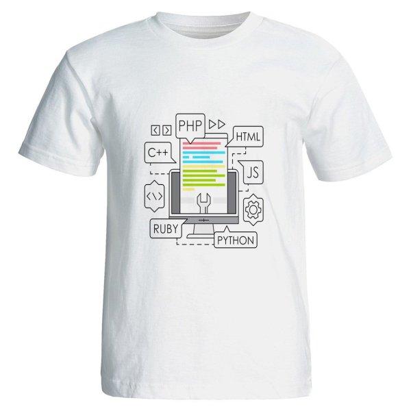 تی شرت مردانه طرح برنامه نویس مدل Z23