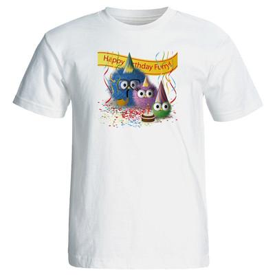 تصویر تی شرت زنانه طرح تم تولد کد 7087