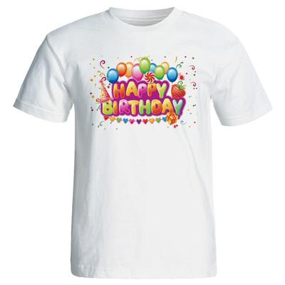 تی شرت زنانه پارس طرح بادکنک تولد کد 7088