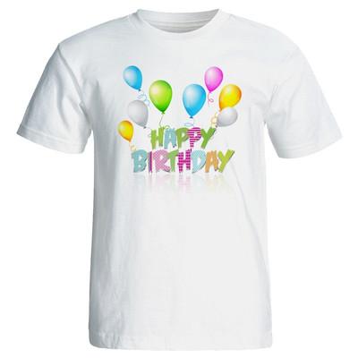 تی شرت زنانه طرح بادکنک تولد کد 7095
