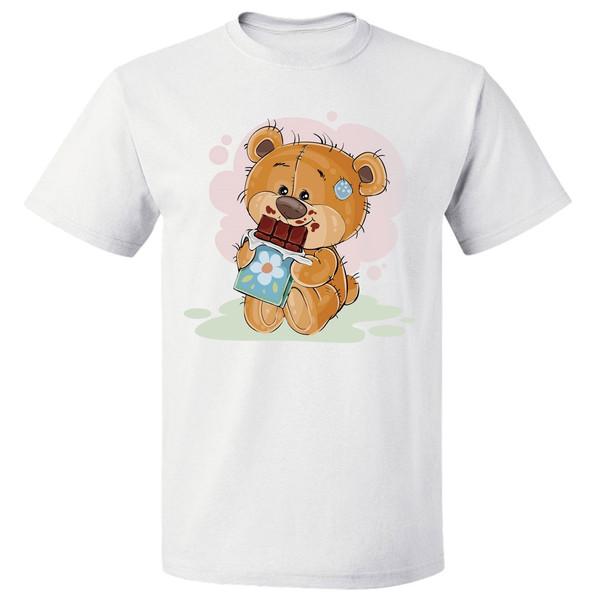 تی شرت زنانه طرح کارتونی خرس تدی کد 7120