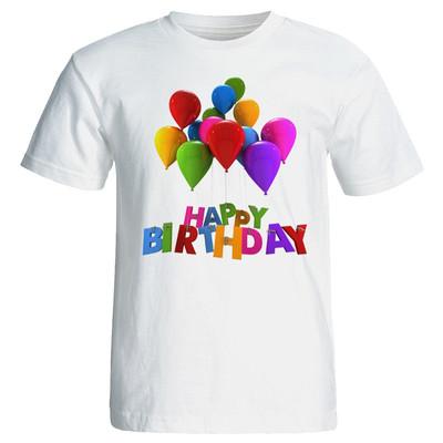 تی شرت زنانه طرح بادکنک تولد کد 7057
