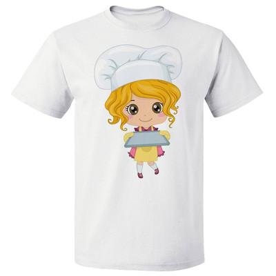 تصویر تی شرت  پارس طرح کارتونی دختر آشپز کد 7113