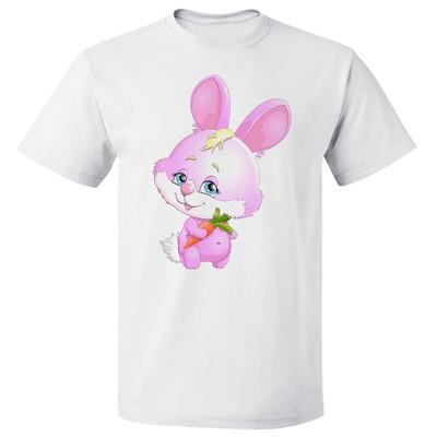 تصویر تی شرت پارس طرح کارتونی خرگوش صورتی کد 7132