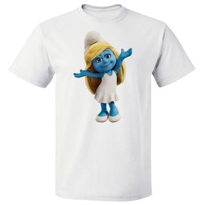 تی شرت پارس طرح  کارتونی اسمورف کد 7136