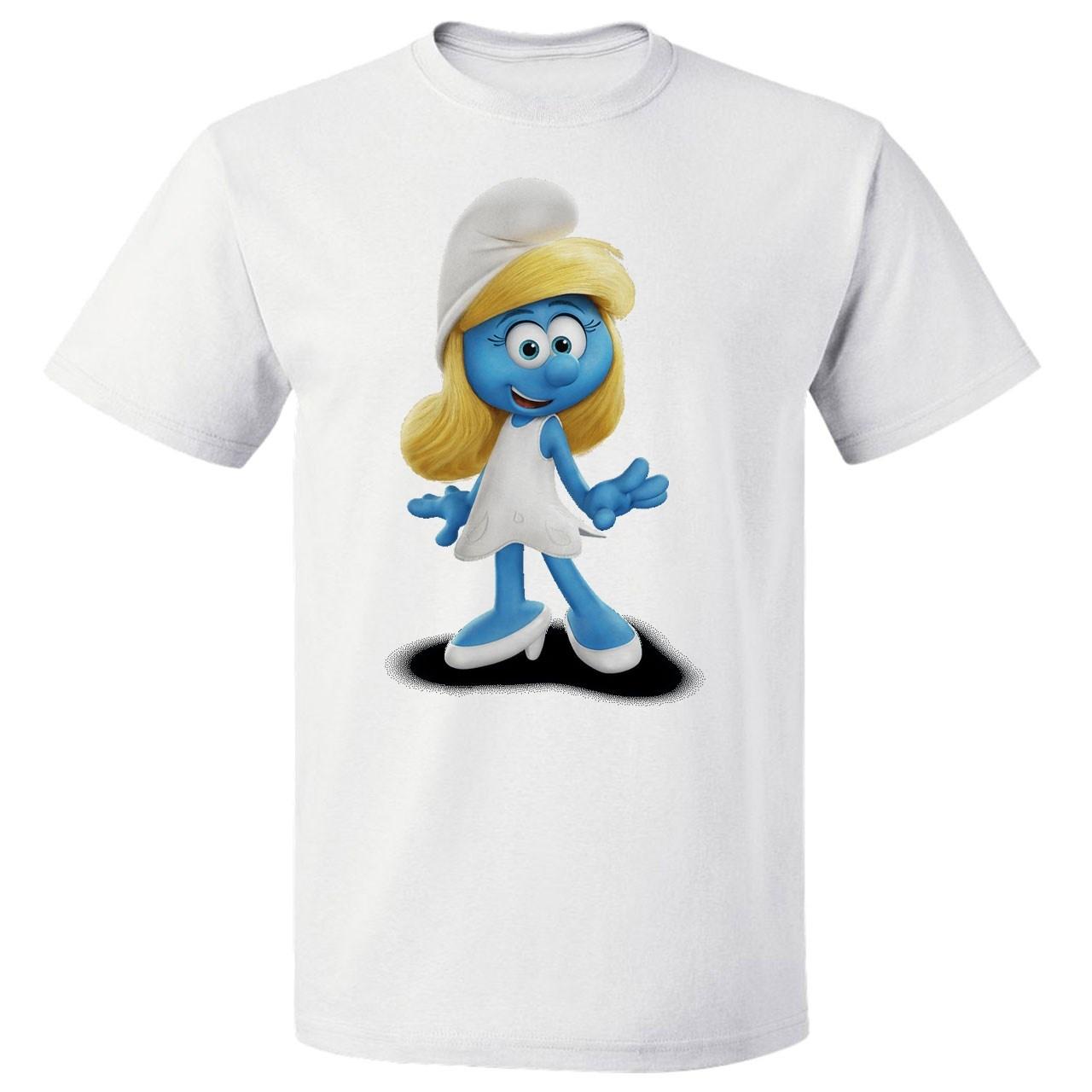 Photo of تی شرت  پارس طرح کارتونی اسمورف کد 7138