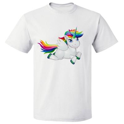 تی شرت پارس طرح اسب تک شاخ رگین کمان کد 7147